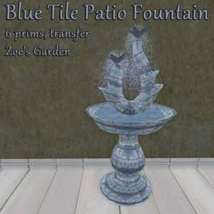 Blue Tile Patio Fountain AD