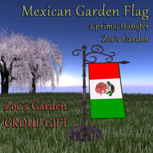 Mexican Garden Flag Group Gift AD